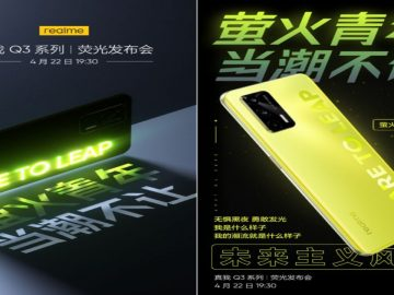 realme gave a date for its fluorescent colored illuminated phone