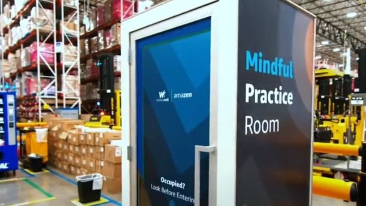 Amazon builds new wellness chamber for warehouse workers