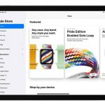 Apple Store app on iPad updated Sidebar for quick access