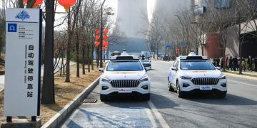 Driverless robotics service launched in Beijing China