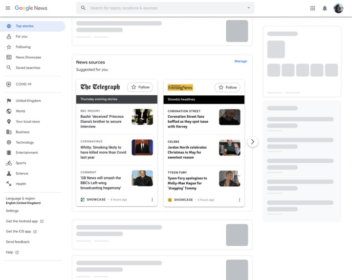 Google News Showcase is now available on desktop 1