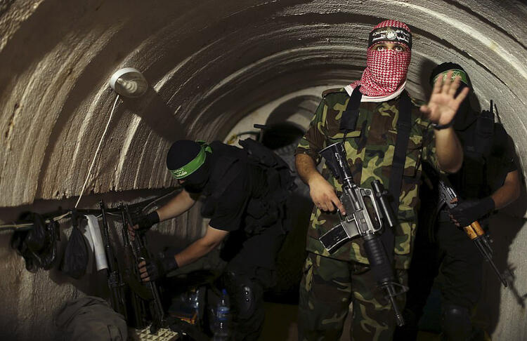 Hamas tunnels targeted by Israel are pictured 1