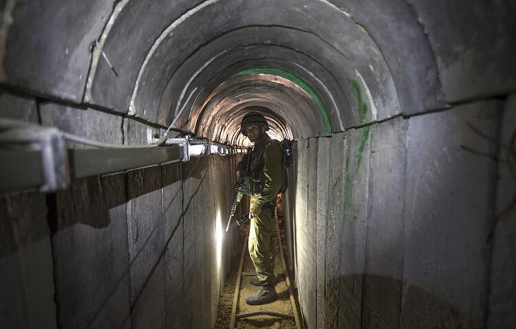 Hamas tunnels targeted by Israel are pictured 3