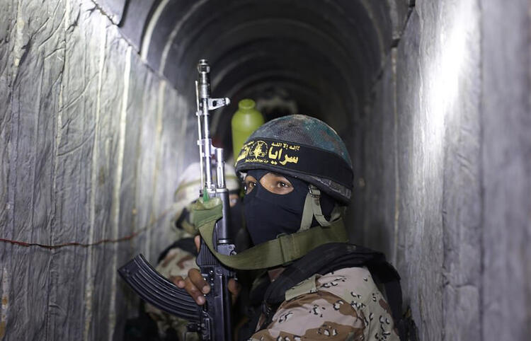 Hamas tunnels targeted by Israel are pictured 4