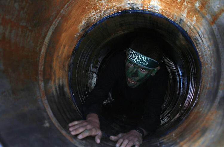 Hamas tunnels targeted by Israel are pictured 6