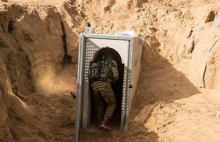 Hamas tunnels targeted by Israel are pictured 7
