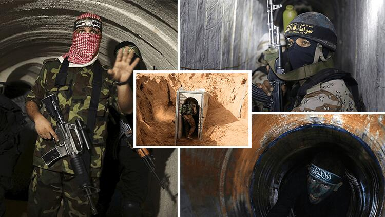 Hamas tunnels targeted by Israel are pictured
