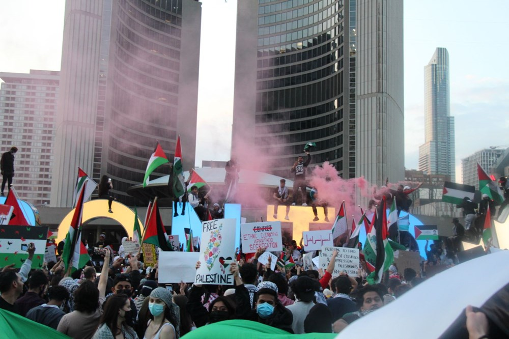 Israeli attacks on Palestinians protested in Canada 4