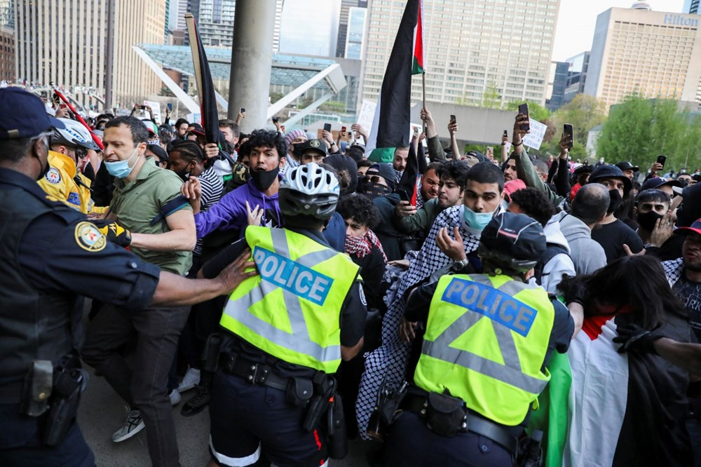 Israeli attacks on Palestinians protested in Canada