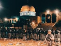 Israeli police responded to Palestinians gathered at Damascus Gate with sound bombs 53 injured 5