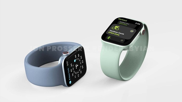 Render images showing the possible design of the Apple Watch Series 7 have been released