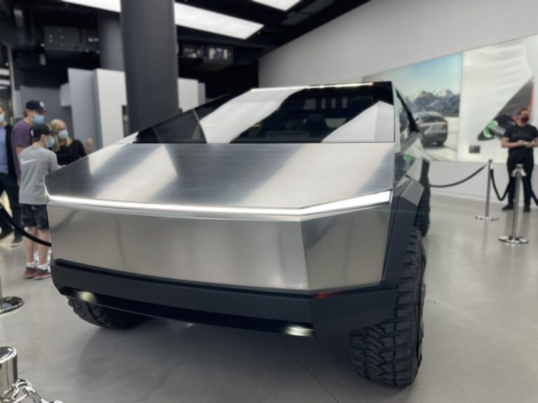 The Cybertruck prototype is in New York this weekend 13