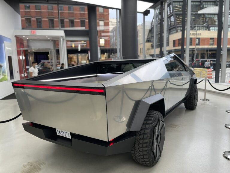 The Cybertruck prototype is in New York this weekend 2 1