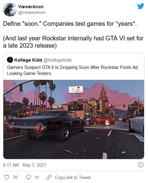 The new claim about GTA 6 release date 1