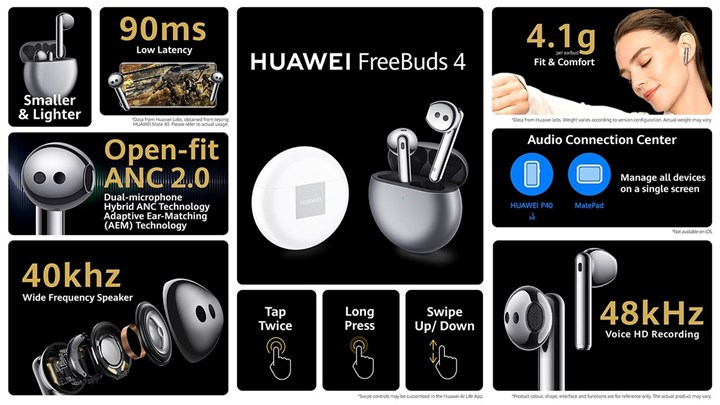 Huawei FreeBuds 4 comes with noise cancellation